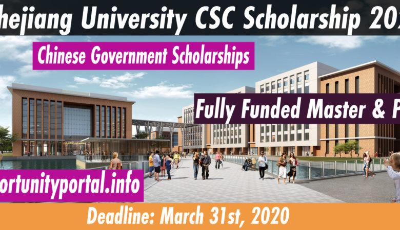 Zhejiang University CSC Scholarship 2020 (Fully Funded)