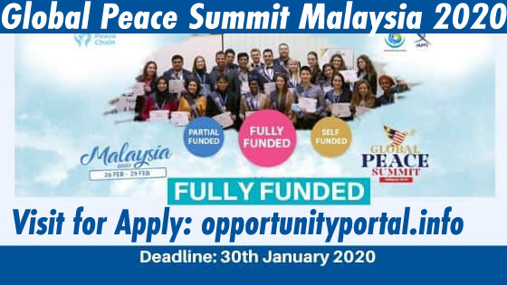Global Peace Summit Malaysia 2020 (Fully Funded)