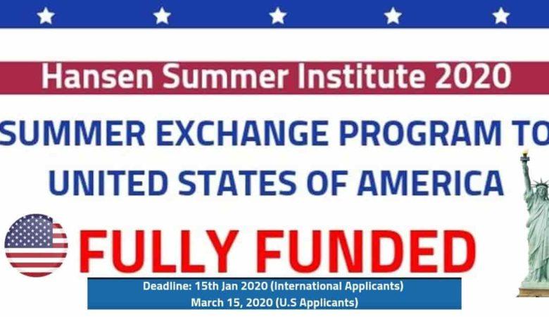 Hansen Institute Summer Exchange Program In USA (Fully Funded)
