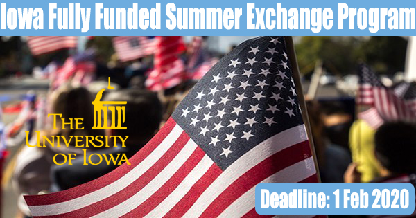 The University Of Iowa Fully Funded Summer Exchange Program In USA
