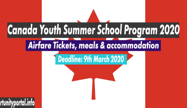 Canada Youth Summer School Program 2020 (Fully Funded)
