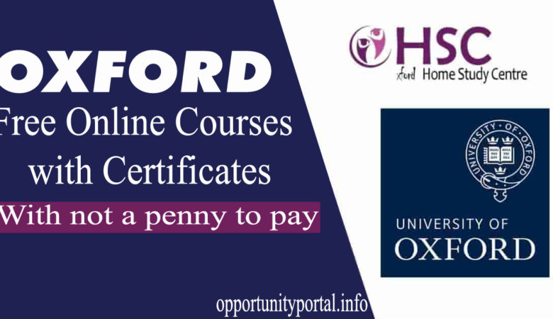 Oxford Free Online Courses with Certificates 2020