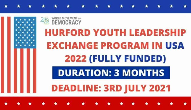 Hurford Youth Fellowship Program In USA 2022 (Fully Funded)