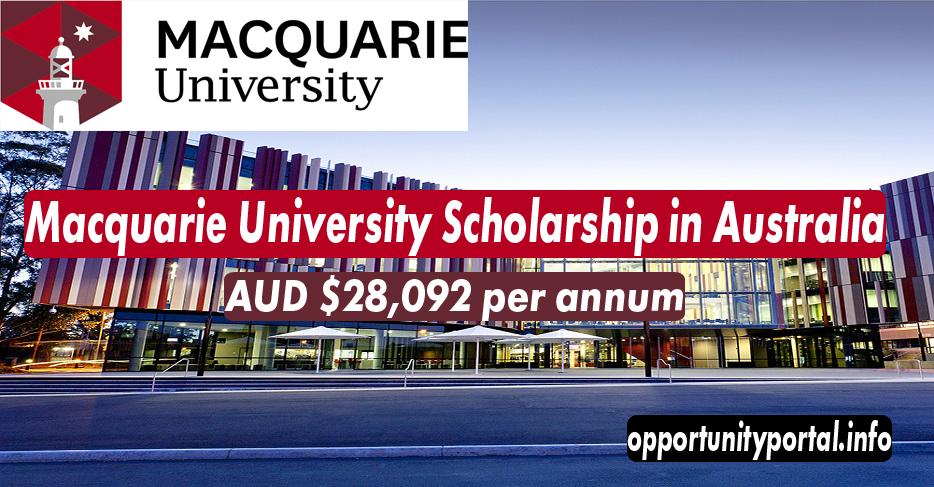 Macquarie University Scholarship in Australia 2021 (Fully ...