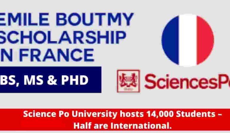 Emile Boutmy Science Po University scholarship in France 2022