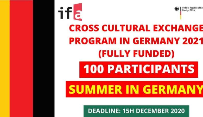 CrossCulture Fellowships Program In Germany 2021 (Fully Funded)