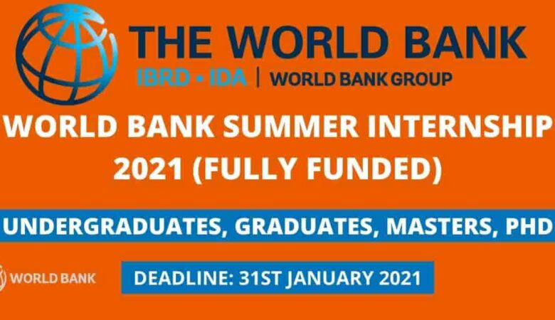 World Bank Internship Program 2021 (Fully Funded)