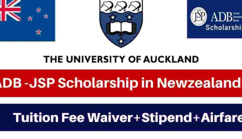 Asian Development Bank University of Auckland Scholarship 2022 (Fully Funded)