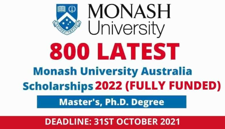 Monash University Graduate Scholarships in Australia 2022 (Fully Funded)