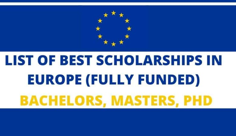 Top 40 European Countries Scholarships For International Student 2022