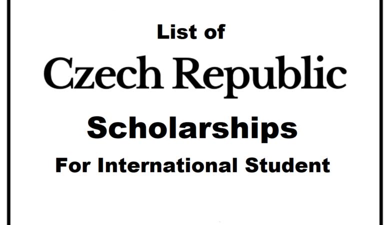 17 Czech Republic Scholarship For International Student 2022