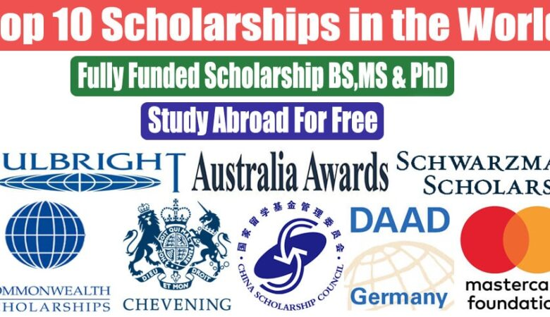 Top 10 Scholarship in The World For International Student 2022