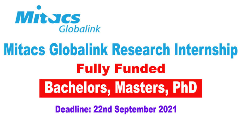 MitacsGlobalink Research Canada Internship 2022 (Fully Funded)