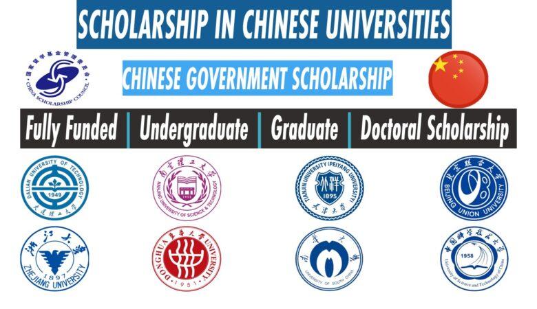 9 Scholarship in China Universities 2022 For International Student