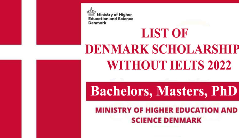List of Denmark Scholarships Without IELTS 2022 (Fully Funded)