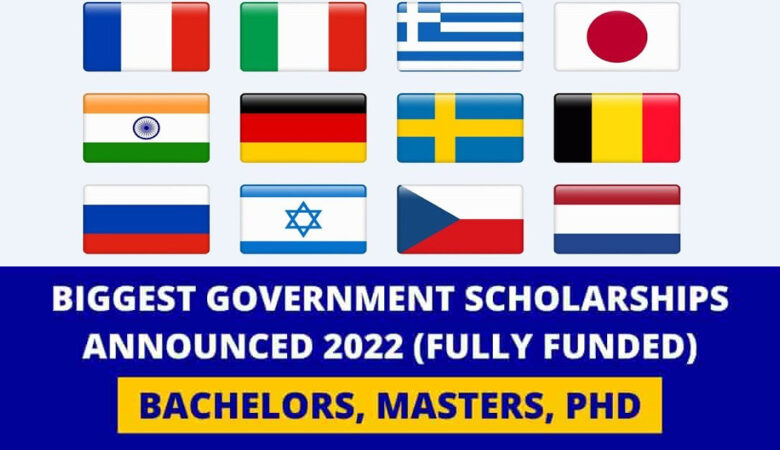 World Biggest List of Government Scholarships 2022 (Fully Funded)